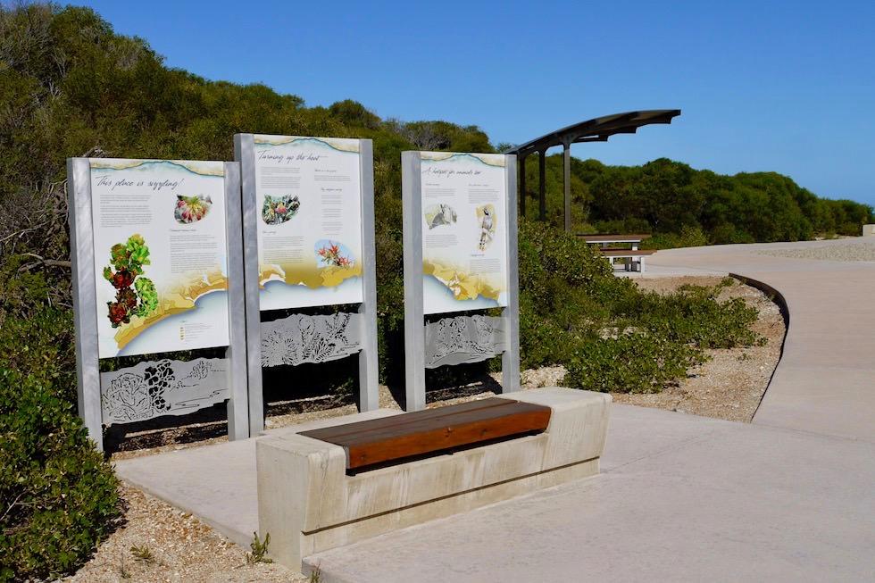 Schautafeln am Barren Beach erklären den Park - Fitzgerald River National Park - Western Australia