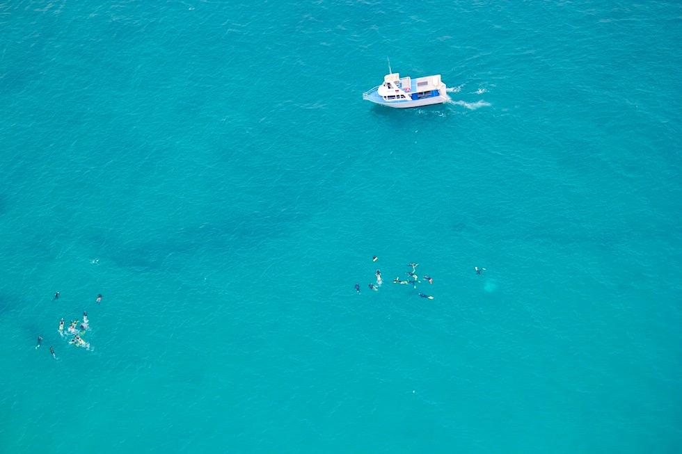 Ningaloo Reef - Schnorchel Trips aus der Luft gesehen - Western Australia