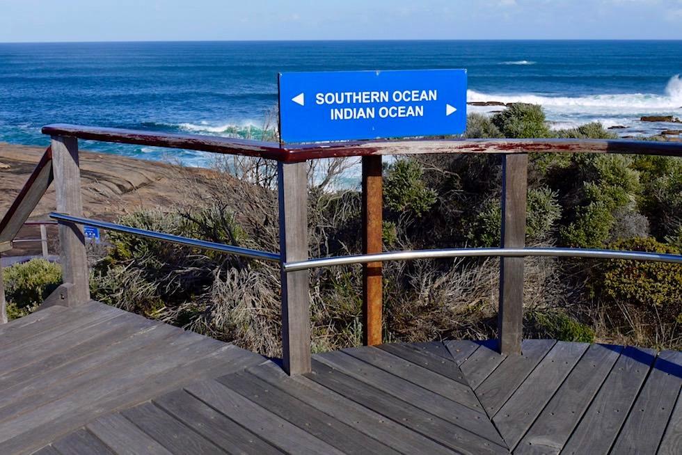 Wegweiser zum Southern Ocean & Indian Ocean - Cape Leeuwin - Margaret River Region - Western Australia