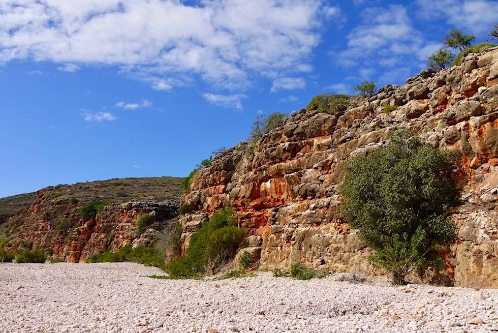 Start der Wanderung - Mandu Mandu Gorge im Cape Range National Park - Western Australia