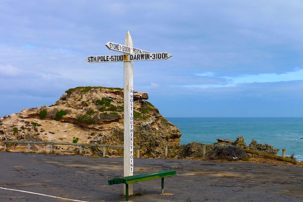 Suedlichster Punkt Suedaustralien - Cape Northumberland an der Limestone Coast - South Australia