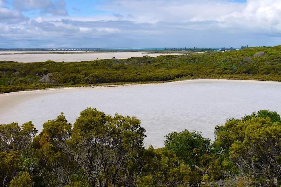 Weiter Blick über Woolley Lake & Lake George - Beachport - South Australia