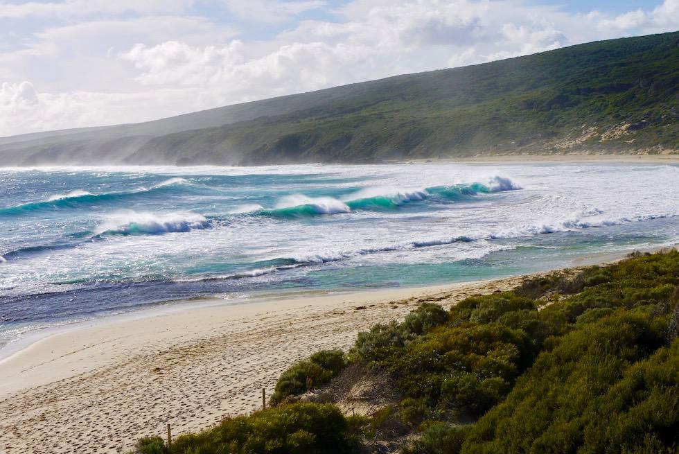 Yallingup Beach mit Wind - Western Australia