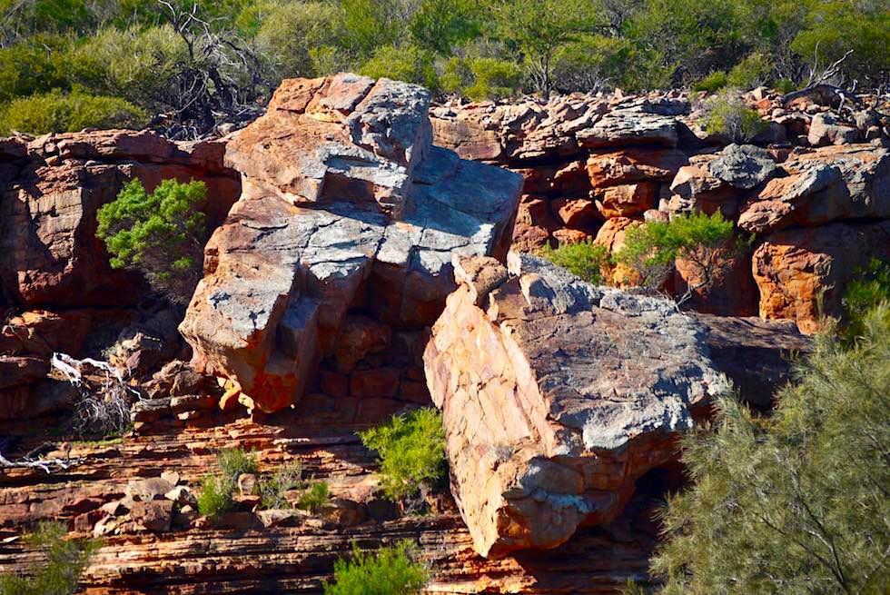 Abgebrochen oder einfach tolle Felsklettereien - Ross Graham Walk - Kalbarri National Park - Western Asutralia