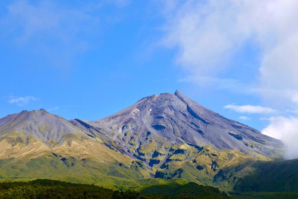 Faszinierender Ausblick auf Mt Taranaki vom Lookout - Mount Egmont National Park - Nordinsel Neuseeland
