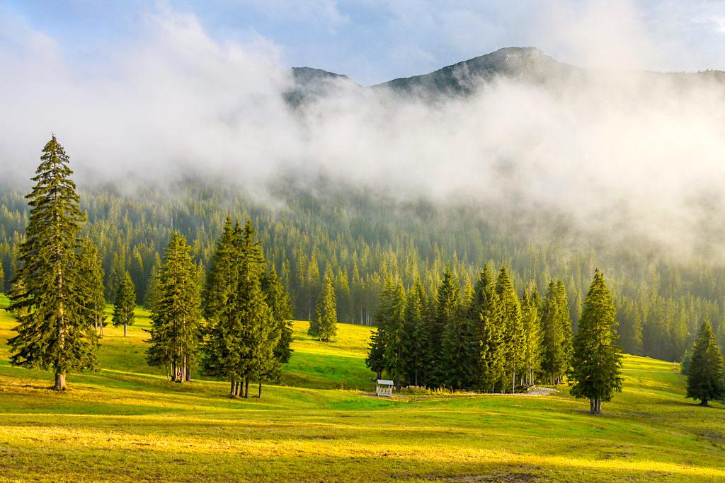 Blauberge Wanderung vom Schildenstein zur Gufferthütte - Faszinierende Farben, Wolken & Abendsonne - Bayern
