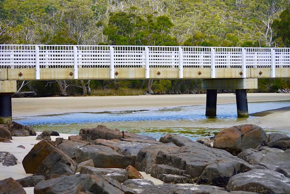 Cockle Creek Bridge am südlichsten Ende von Australien - Tasmania