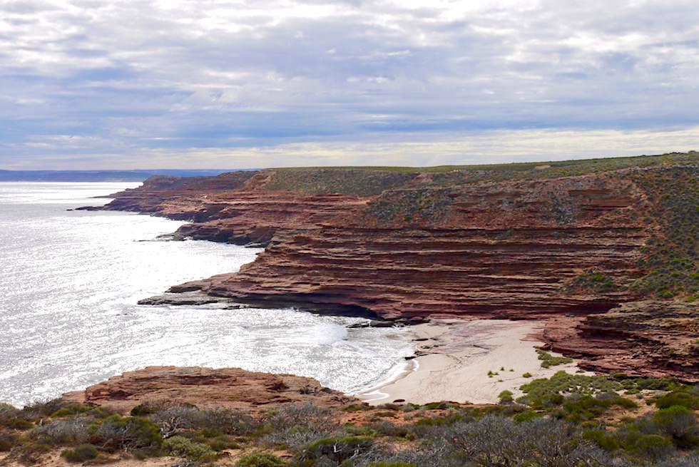 Blick auf Eagle Gorge & Strand - Kalbarri National Park & Coral Coast - Western Australia