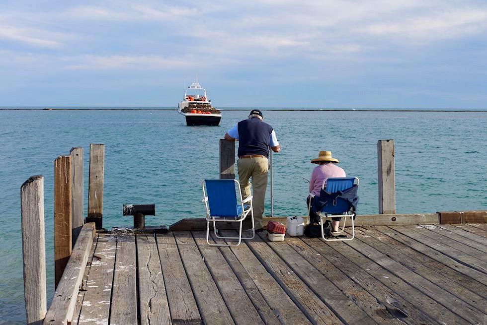 Fischen vom Pier - Port Gregory - Western Australia