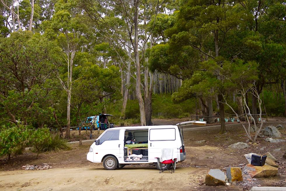 Parks & Wildlife: Schön gelegene Fortescue Bay Campground - Tasman National Park - Tasmanien