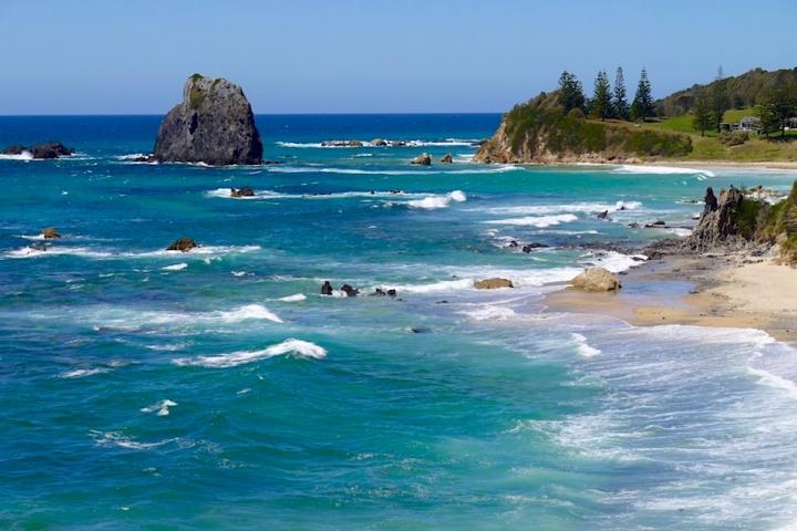 Glasshouse Rocks sind die ältesten Felsen an der Ostküste Australiens - Narooma - New South Wales