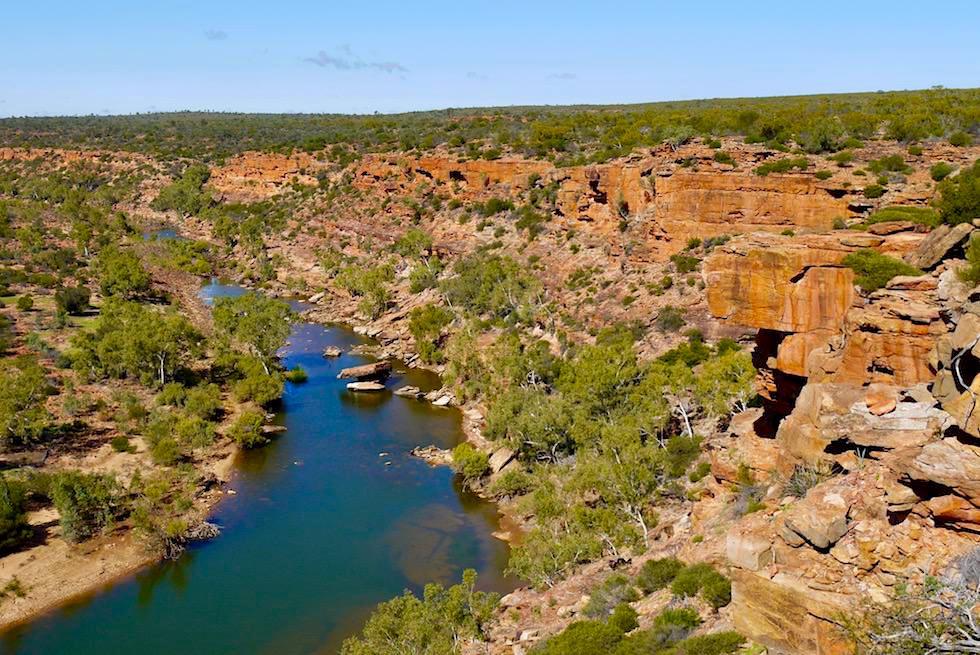 Atemberaubend schöner Ausblick vom Hawks Head Lookout - Kalbarri National Park - Western Australia