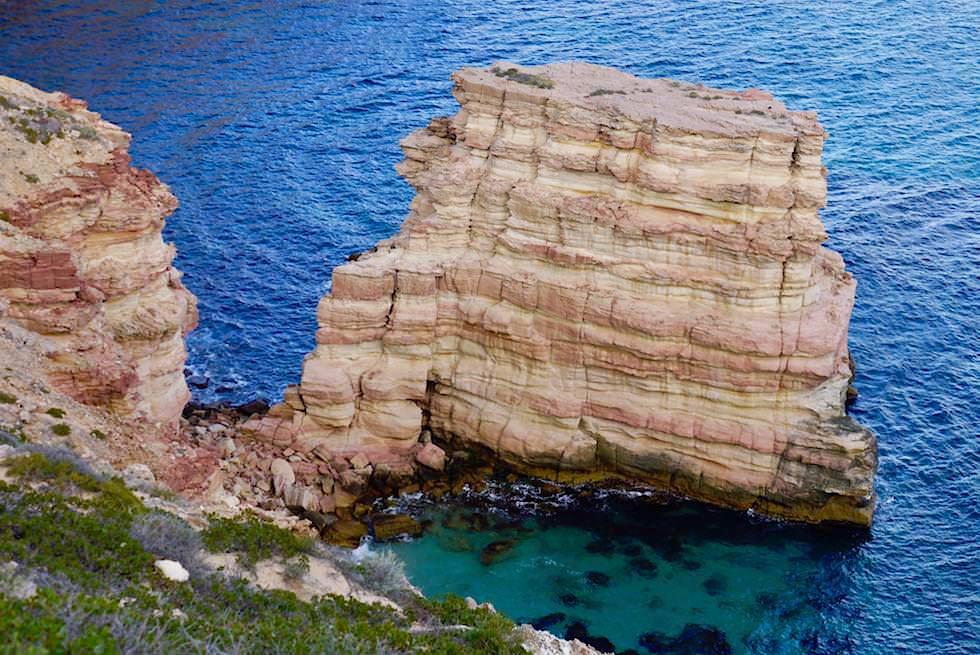Der Indische Ozean als Bildhauer: Island Rock - Kalbarri National Park & Coral Coast - Western Australia