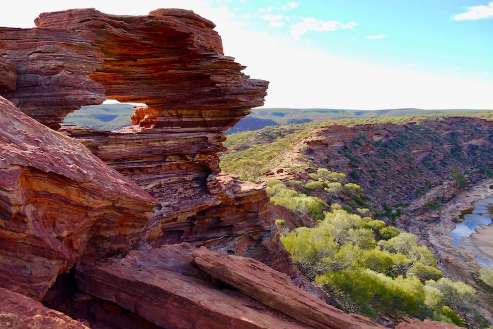 Kalbarri National Park - Blick auf die Felsformation Nature's Window - Western Australia