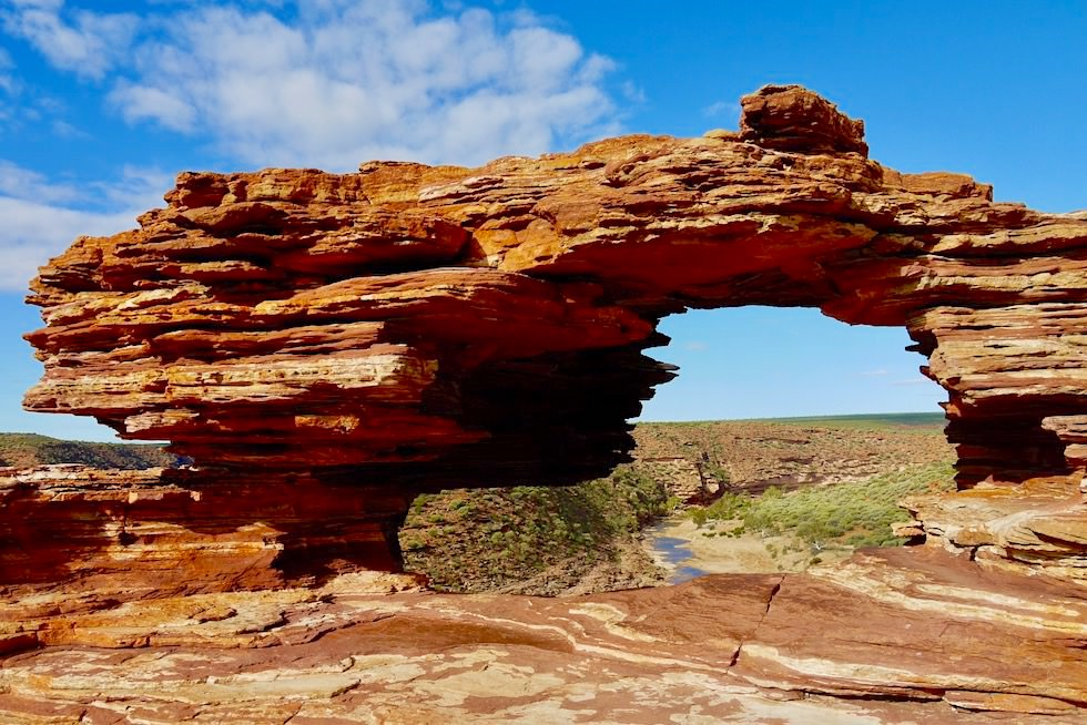 Highlight des Kalbarri National Parks: Nature's Window mit Blick auf den Murchison River - Western Australia