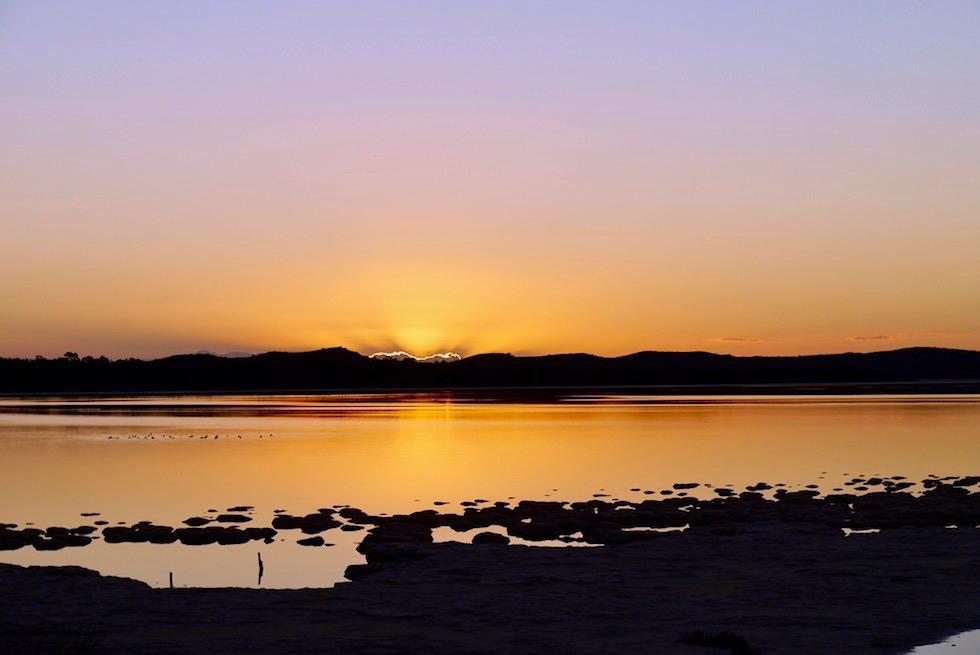 Lake Clifton - Ufer, Thrombolithen & Sonnenuntergang - Western Australia