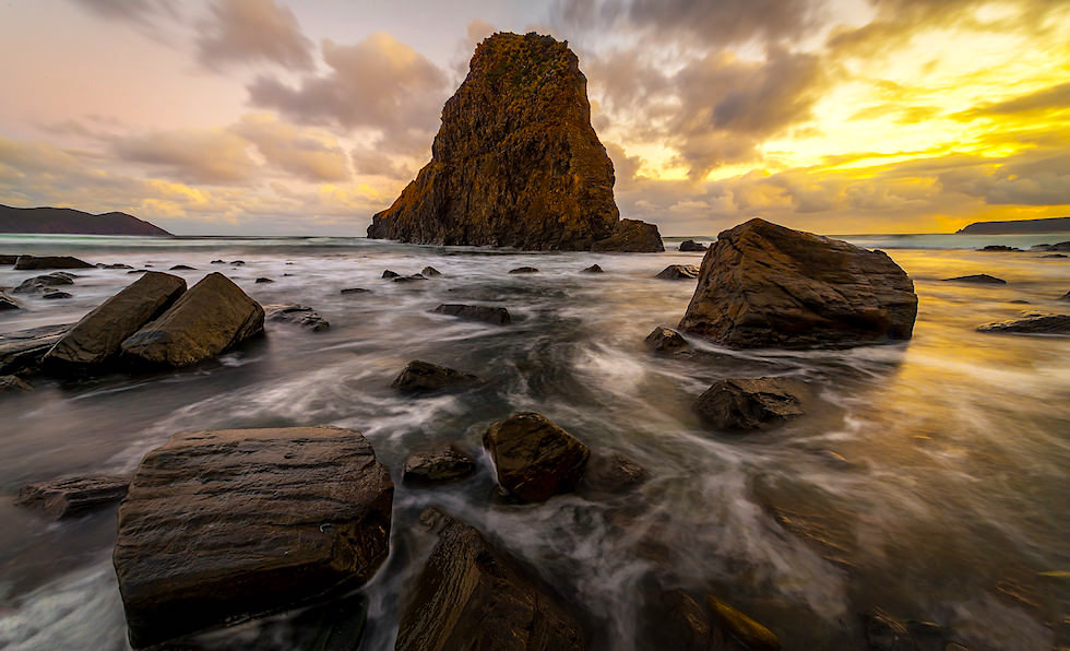 Lion-Rock-Sunset---South-Cape-Tasmania---Wilkography