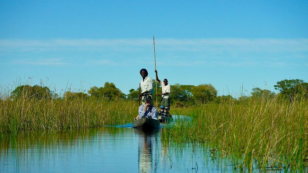Erlebnis Mokoro Safari - Im Einboot durch das Okavango Delta geschippert werden - Botswana