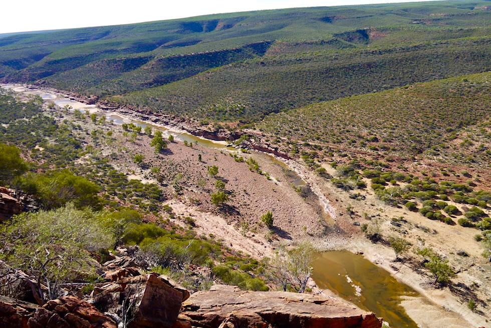 Blick vom West Loop Loukout auf Murchison River & Hinterland - Kalbarri National Park - Western Australia
