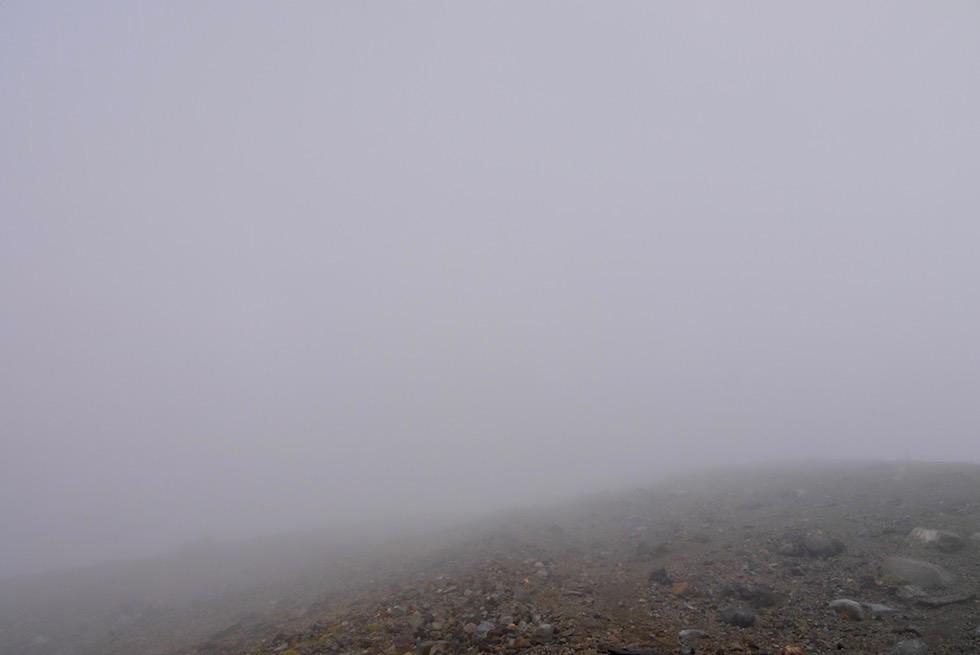 Nichts als Nebel - Aufstieg zum Gipfel des Mt Taranaki - Nordinsel Neuseeland