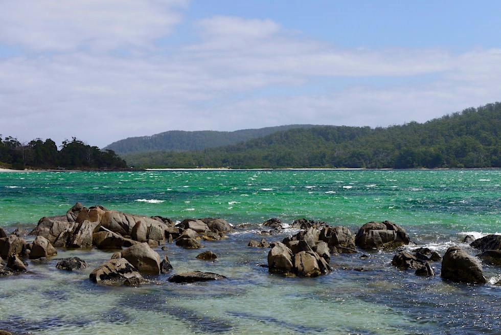Recherche Bay bei Wind - Cockle Creek an der Südspitze Tasmaniens - Tasmania