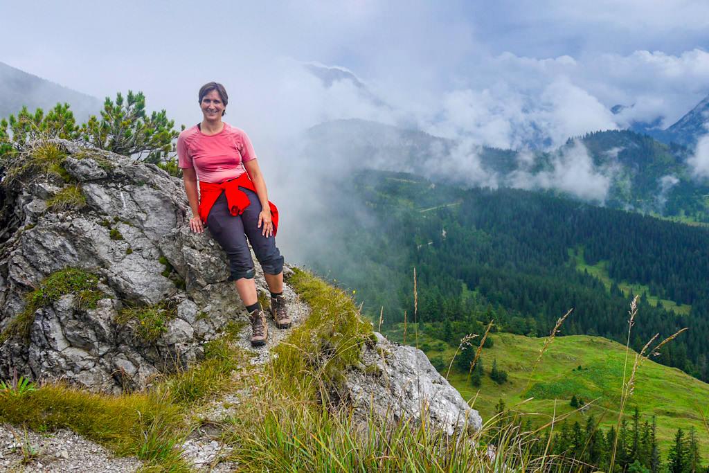 Ausblicke vom Schildenstein-Gipfel - Blauberge-Überschreitung und grandiose Wanderung - Wildbad Kreuth, Bayern
