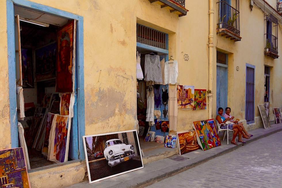 In den Gassen reihen sich Souvenirshops aneinander - Havanna - Kuba