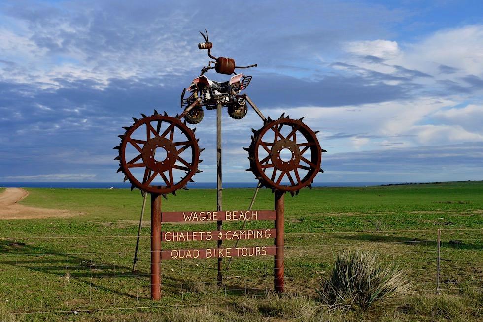 Einladendes Schild zum Wagoe Beach - Kalbarri - Western Australia