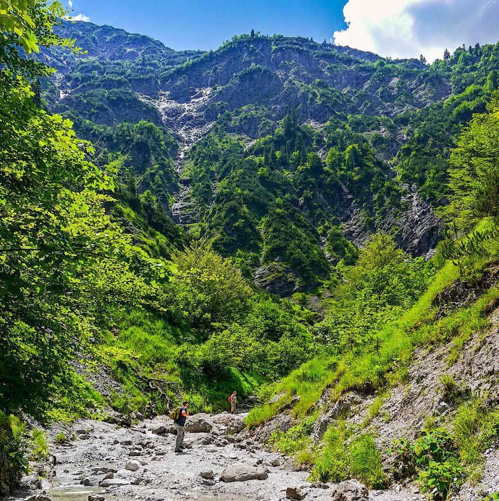 Imposante, abenteuerliche Wolfsschlucht - Abwechslungsreicher Aufstieg zum Schildenstein - Blauberge-Wanderung - Bayern