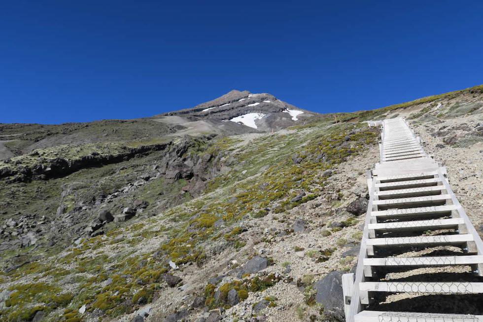 Mt Taranaki Gipfelwanderung - Staircase - Egmont National Park - Nordinsel Neuseeland