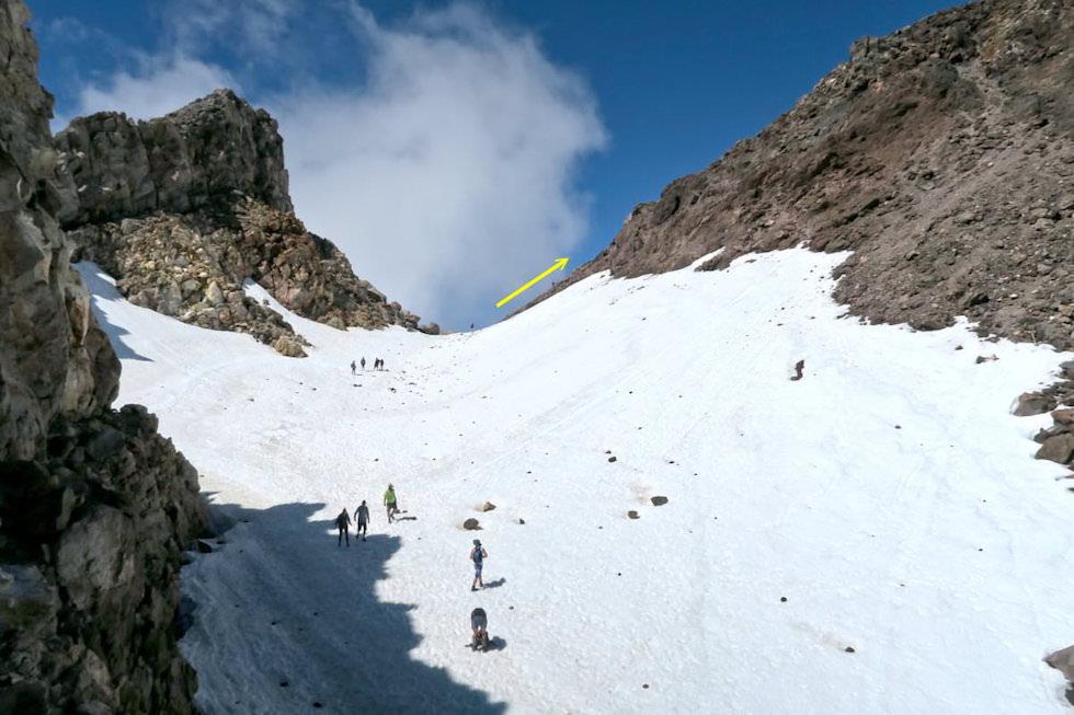 Mt Taranaki Wanderung - Eis & Schnee im Krater & Vulkankessel - Egmont National Park - Nordinsel Neuseeland