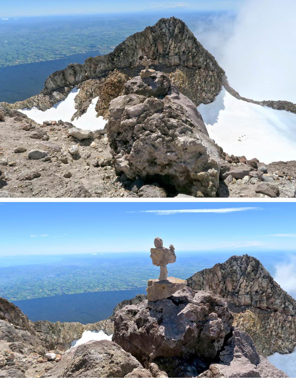 Mt Taranaki Wanderung - Auf dem Gipfel - Egmont National Park - Nordinsel Neuseeland