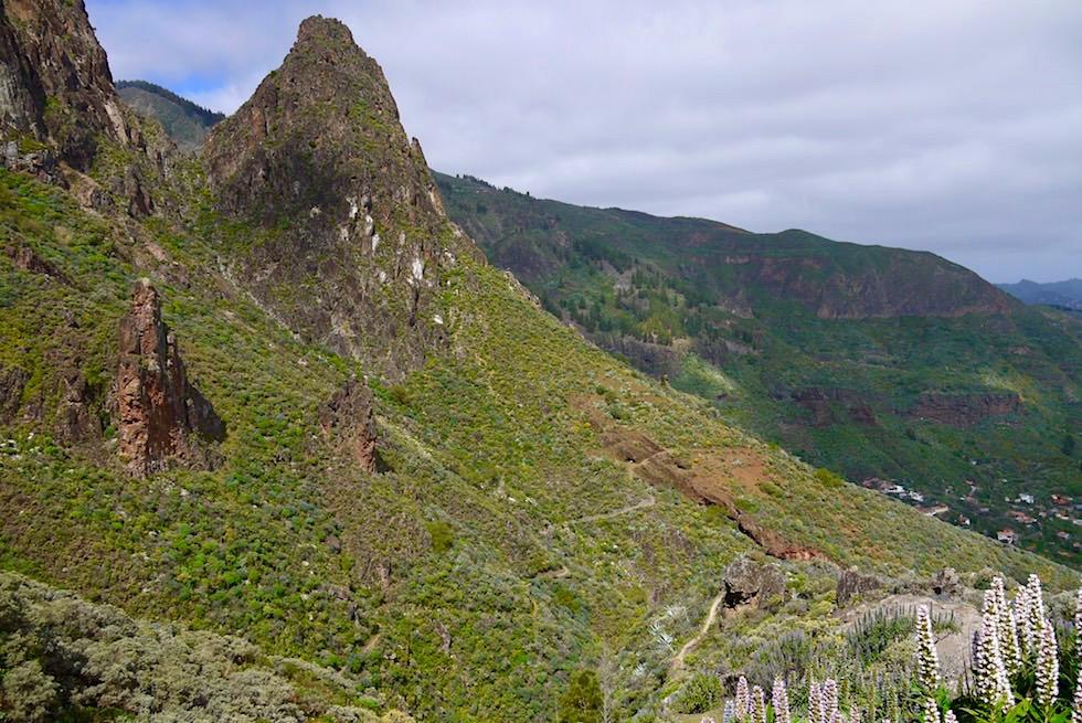 Am Fuße des Roque Grande - Route 1 Wanderung - Valsequillo - Gran Canaria