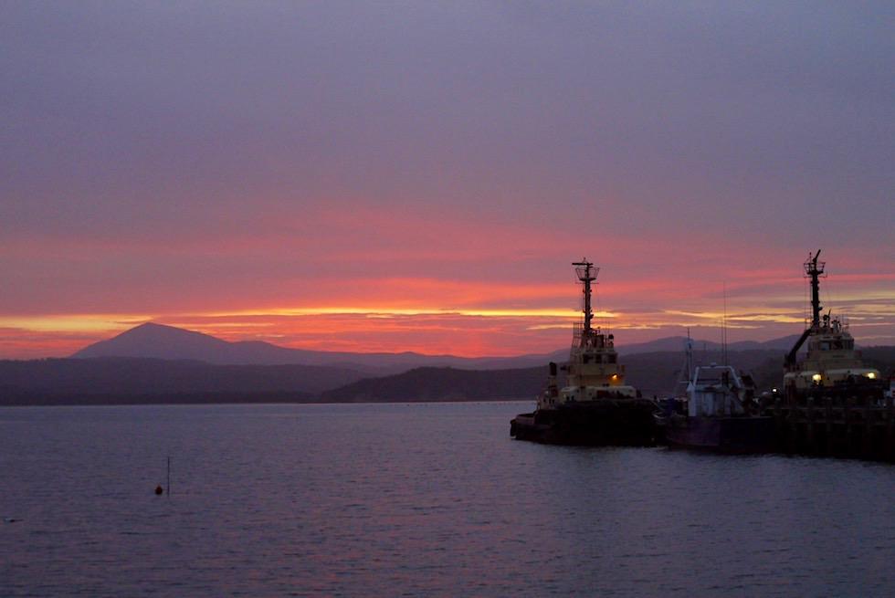 Eden: Sonnenuntergang am Hafen - Twofold Bay an der Sapphire Coast - New South Wales