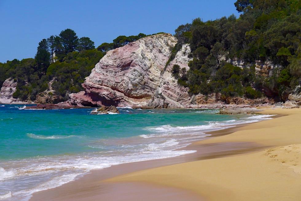Eden: ein schöner Küstenort - Aslings Beach & Surf Beach - Twofold Bay - Sapphire Coast - New South Wales