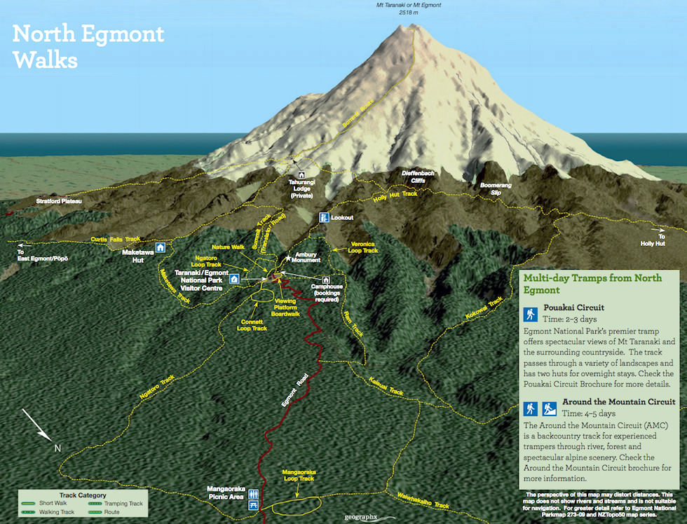North Egmont Walks - DOC - Nordinsel Neuseeland