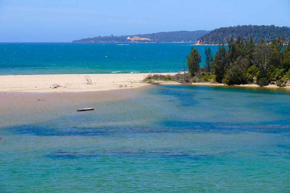 Nullica River Mouth - Twofold Bay trennt den Norden und Süden des Ben Boyd National Parks - New South Wales