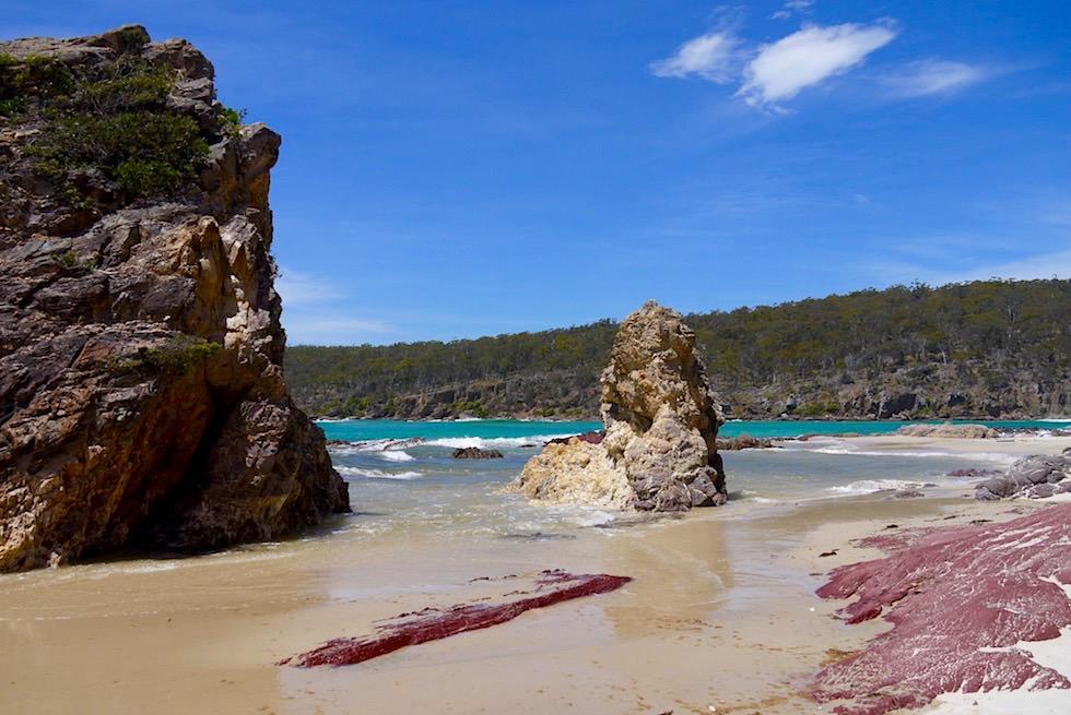 Pambula Beach: faszinierend schöner Strand & Felsformationen im Norden des Ben Boyd Nationa Parks - New South Wales