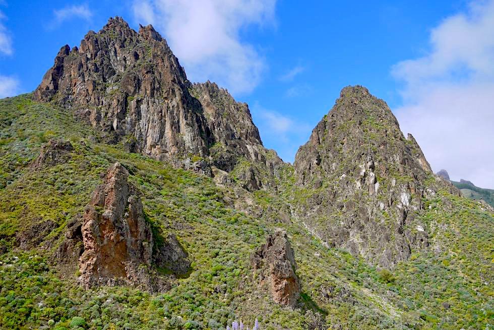 Roque Grande Wanderung - Era Blanca: Schönster Ausblick auf Doppelgipfel Roque Grande - Valsequillo - Gran Canaria Hightlights