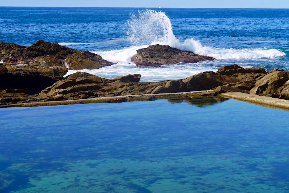 Sapphire Coast - Leuchtendes Blau lädt zum Schwimmen ein: Blue Pool - Bermagui - New South Wales