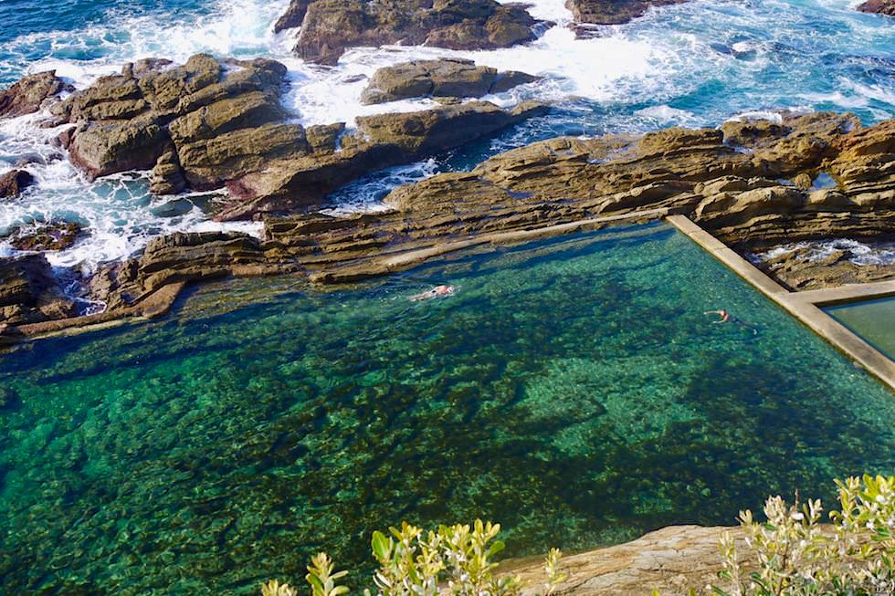 Sapphire Coast - Blue Pool: ein halbnatürliches Meeresbecken - Bermagui - New South Wales