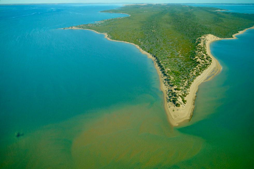 Shark Bay Scenic Flight: die wunderschöne Nordspitze von Bellefin Prong - Western Australia