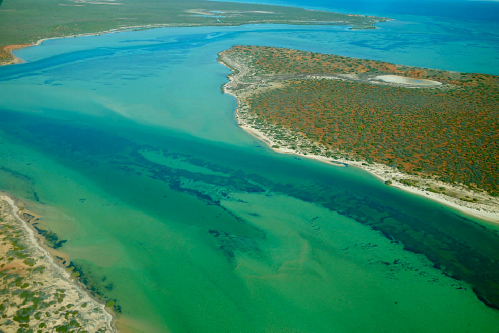 Shark Bay Scenic Flight - Big Lagoon im Francois Peron National Park - Western Australia