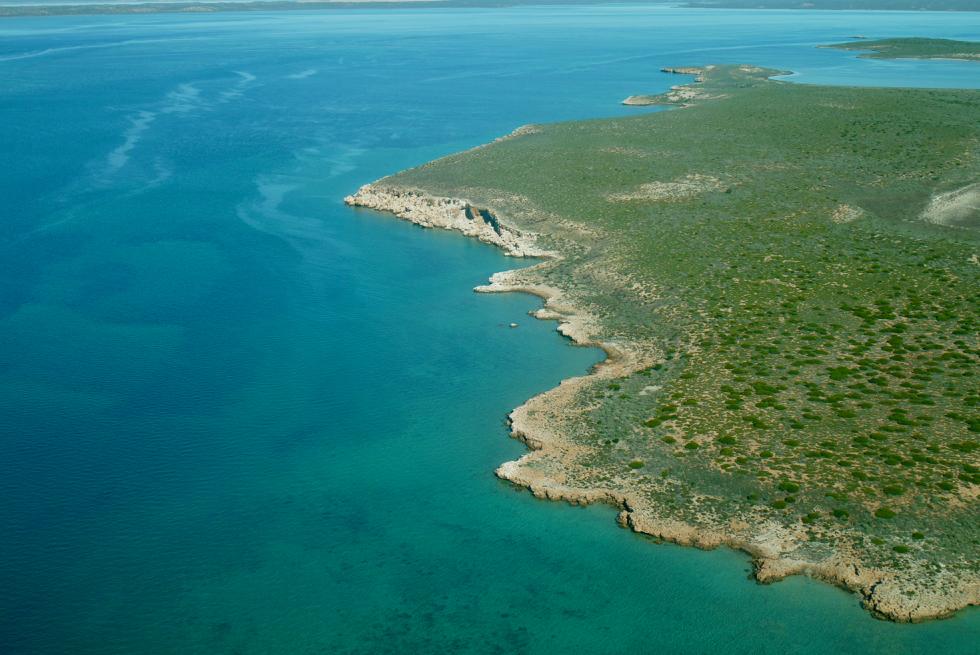 Shark Bay Scenic Flight - Blick auf den Landfinger Bellefin Prong - Western Australia