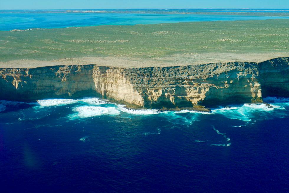 Shark Bay Scenic Flight - Zuytdrop Cliffs: Indischer Ozean trifft westlichste Klippen - Western Australia