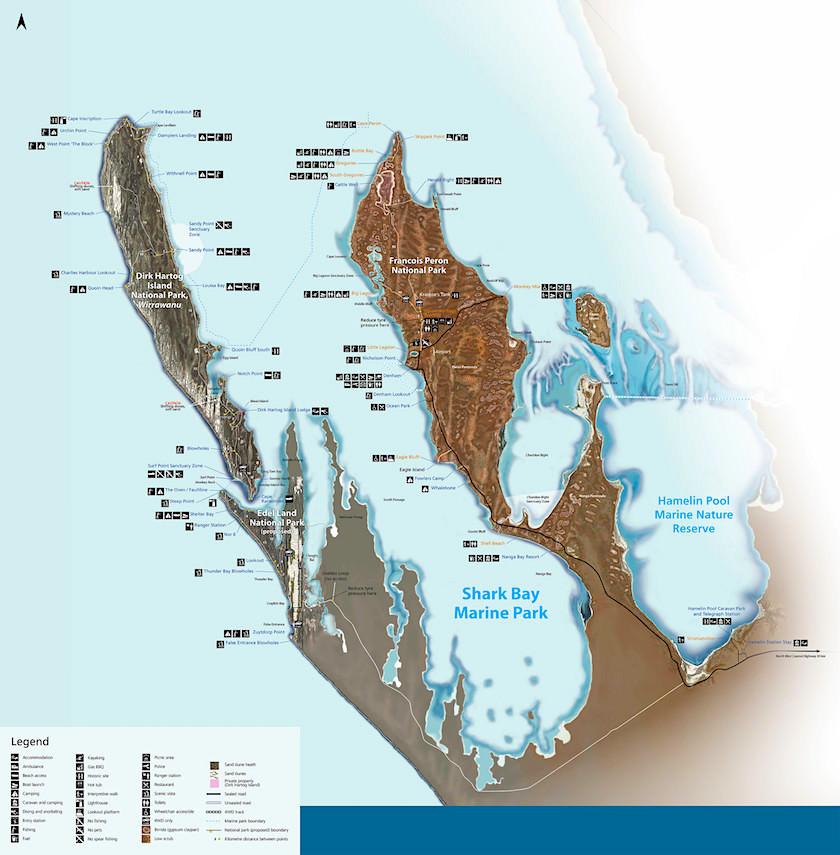 Shark Bay - Karte - Western Australia
