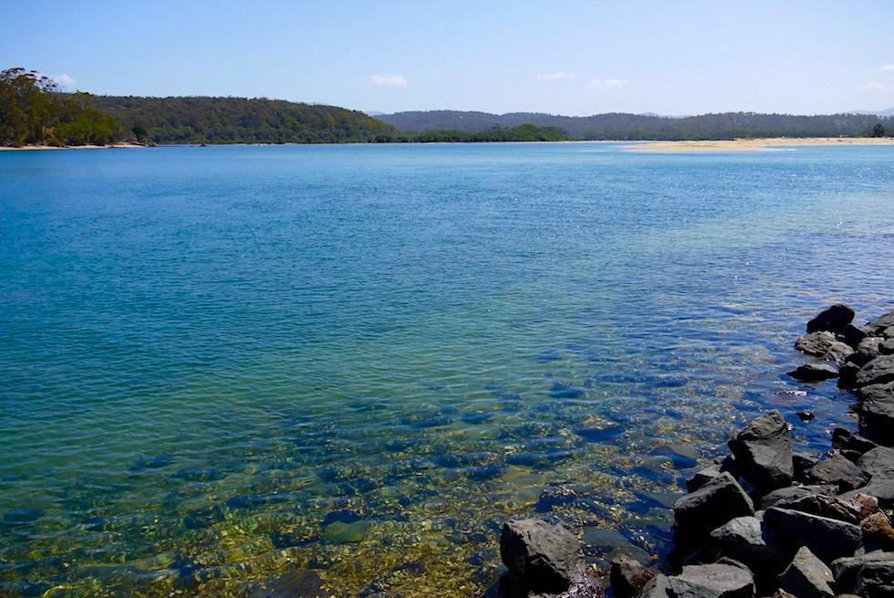 Blick auf Twofold Bay von der historischen Davidson Whaling Station beim Ben Boyd National Park - New South Wales