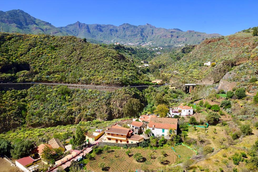 Blick von oben auf Valsequillo & Tal - Gran Canaria
