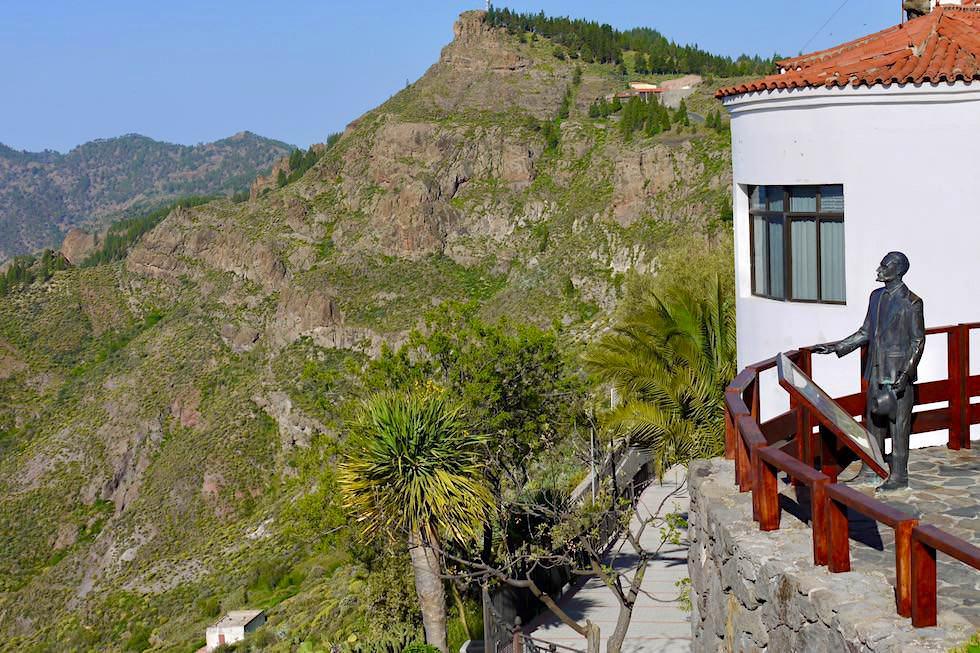 Artenara - Ausblick auf den Mirador de Unamuno & in die Ferne - Gran Canaria