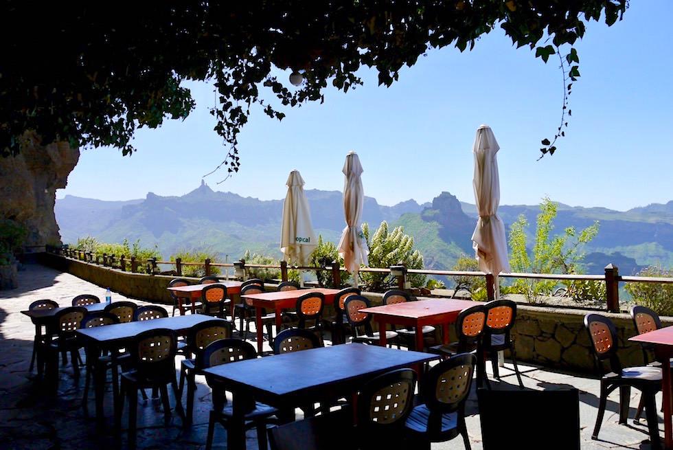 Artenara - Restaurante & Mirador La Cilla: das höchst gelegene Lokal mit dem schönsten Ausblick - Gran Canaria